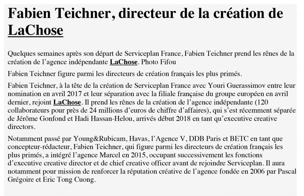Stratégies_Fabien Teichner, directeur de la création de La Chose